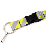 Buttonsmith Pewter Lime Dots Lanyard - Made in USA