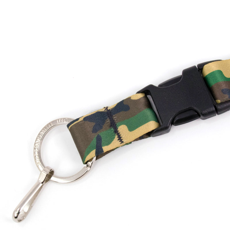 Buttonsmith Woodland Camo Breakaway Lanyard - Made in USA - Buttonsmith Inc.
