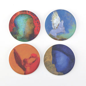 "Buttonsmith® Odilon Redon Symbolist Art 1.25"" Refrigerator Magnet Set - Made in the USA"