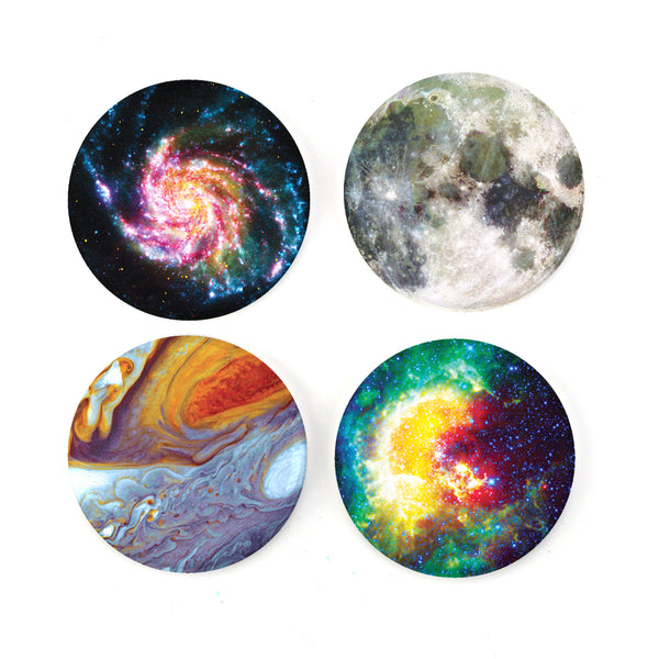"Buttonsmith® Astronomy 1.25"" Magnet Set - Made in the USA"