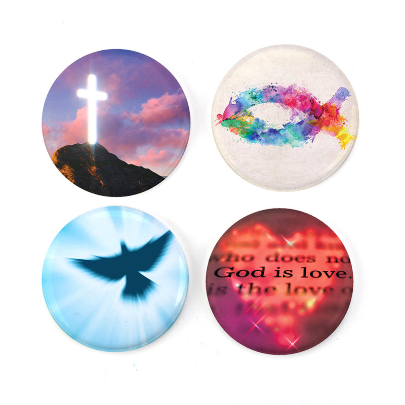 "Buttonsmith® Christianity 1.25"" Magnet Set - Made in the USA - Buttonsmith Inc."