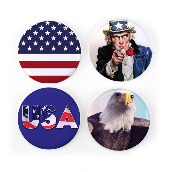 Buttonsmith® Patriot Tinker Top® Set – Made in USA – for use with Tinker Reel® Badge Reels
