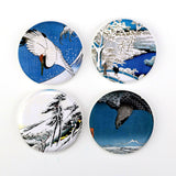 "Buttonsmith® 1.25"" Hiroshige Refrigerator Magnets - Set of 4"