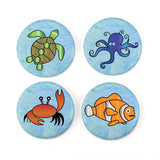 "Buttonsmith® Sea Creatures 1.25"" Magnet Set - Made in the USA"