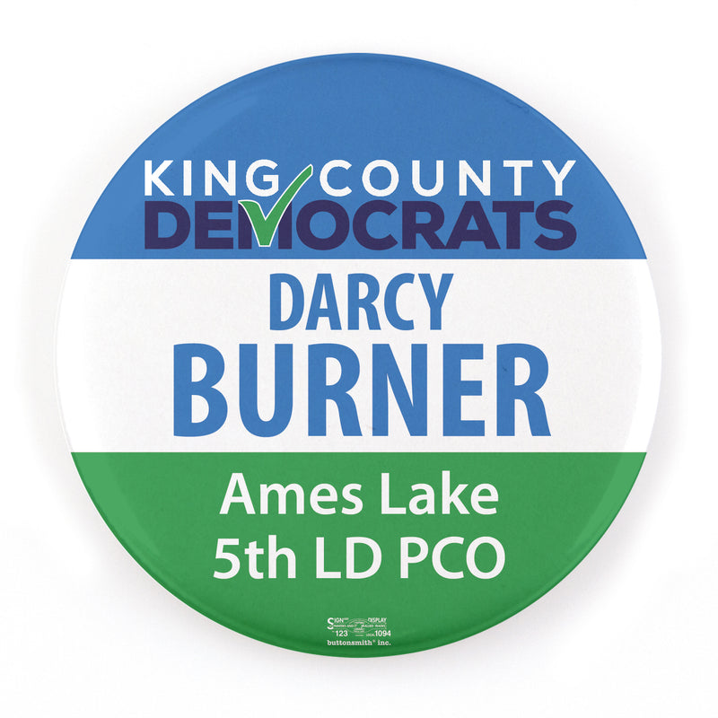 King County Democrats PCO Button - Buttonsmith Inc.