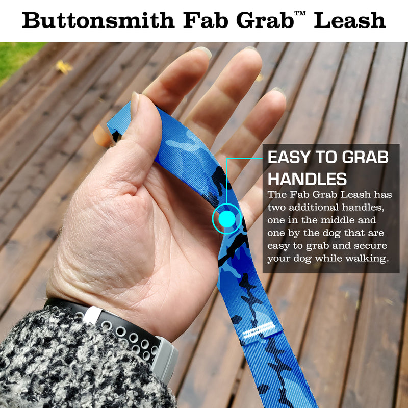 Blue Camo Fab Grab Leash - Made in USA