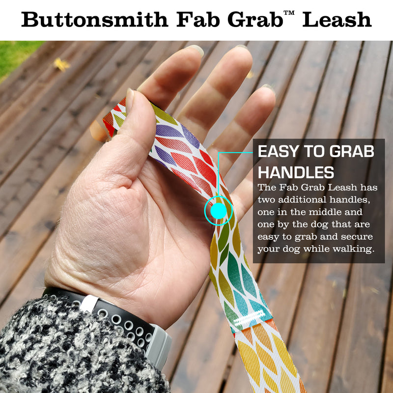 Color Leaves Fab Grab Leash - Made in USA