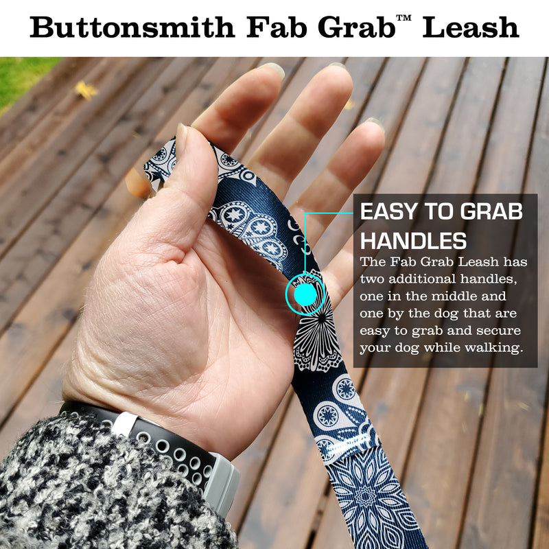 Denim Lace Fab Grab Leash - Made in USA