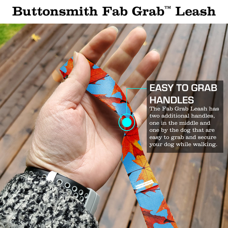 Fall Leaves Fab Grab Leash - Made in USA
