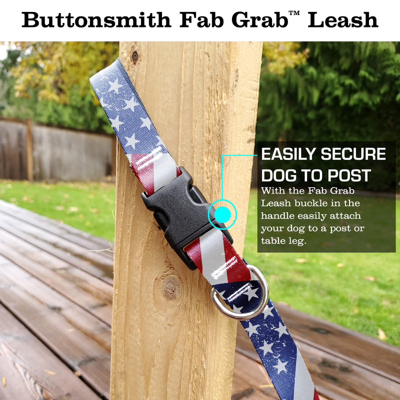 Flags Old Glory Fab Grab Leash - Made in USA