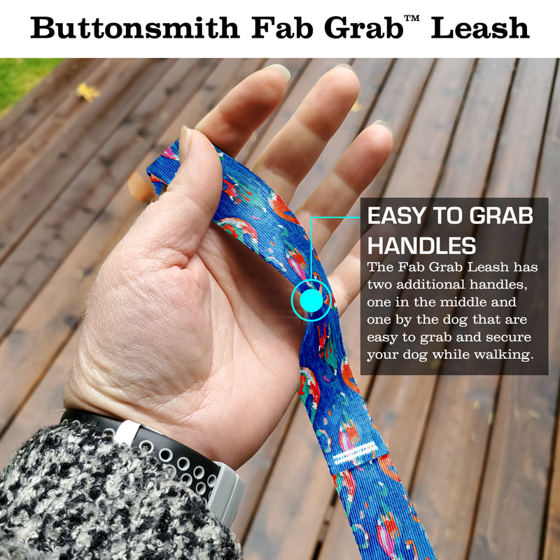 Ikat Electric Fab Grab Leash - Made in USA