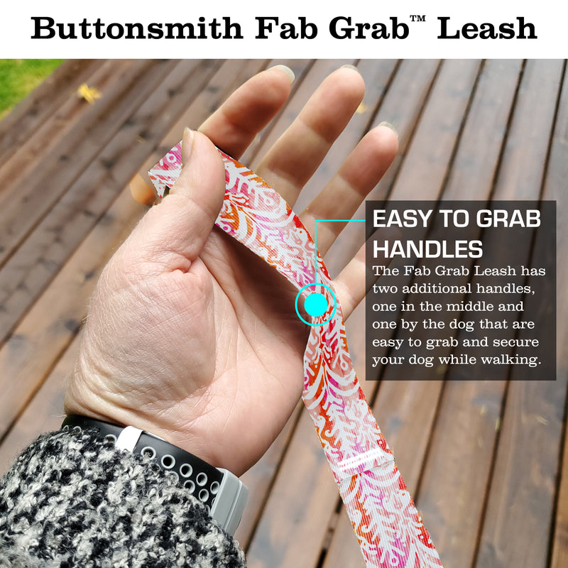 Ikat Rose Fab Grab Leash - Made in USA
