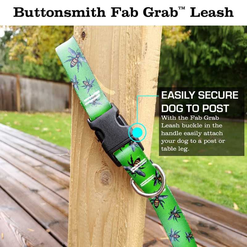 Rebecca McGovern Bees Fab Grab Leash - Made in USA