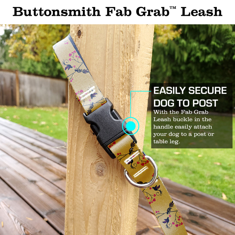 Love Birds Gold Fab Grab Leash - Made in USA