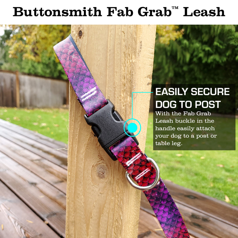 Mermaid Scales Pink Fab Grab Leash - Made in USA