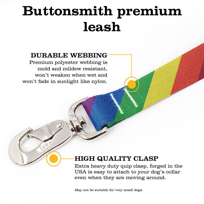 Rainbow Flag Fab Grab Leash - Made in USA
