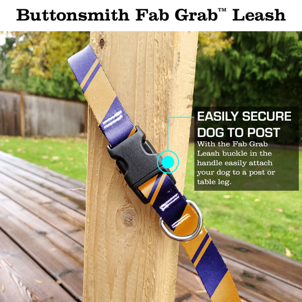 Sporty Purple Gold Fab Grab Leash - Made in USA 1
