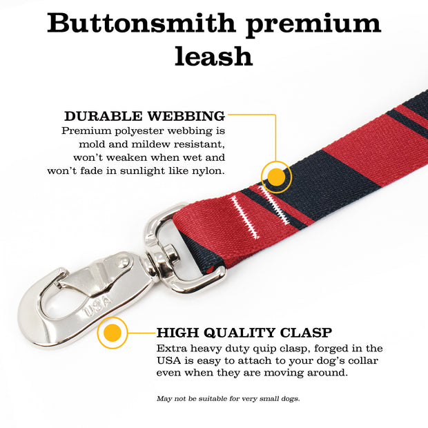 Sporty Red Black Fab Grab Leash - Made in USA 1