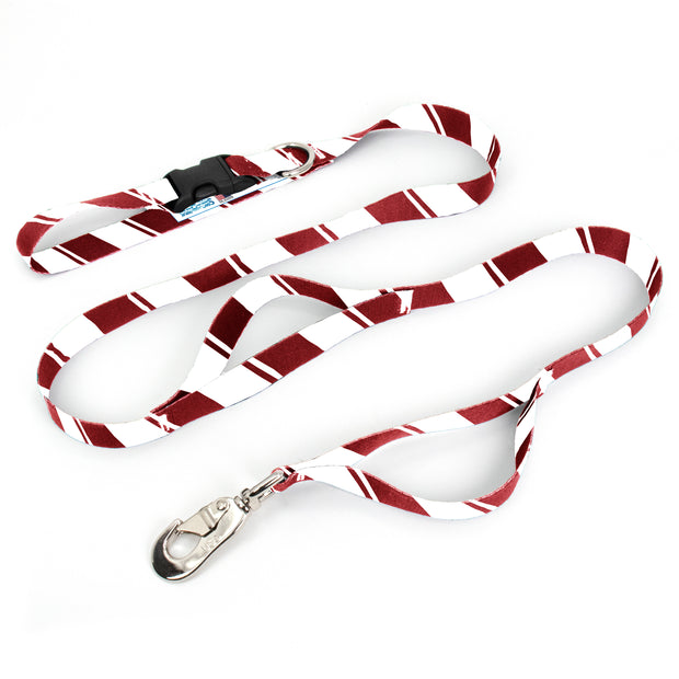 Sporty Red White Fab Grab Leash - Made in USA 1