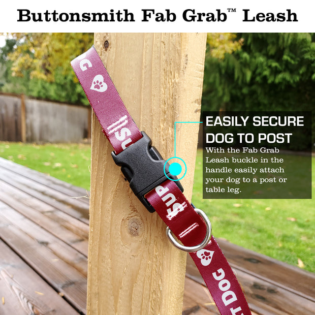Support Dog Red Fab Grab Leash - Made in USA 1