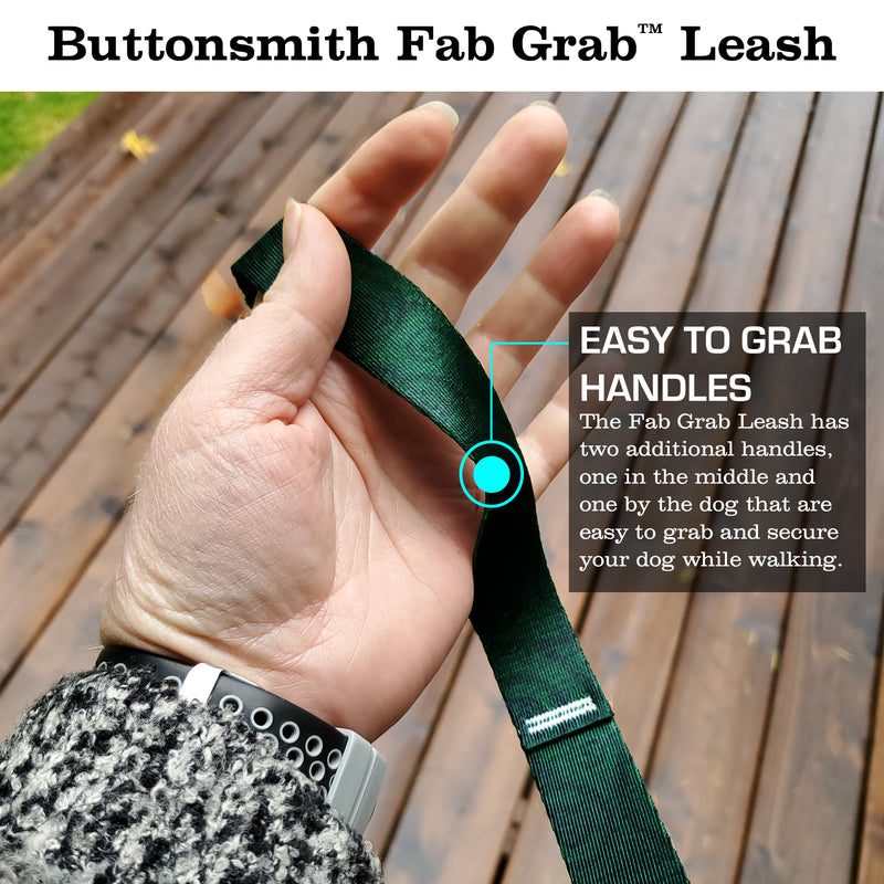 Swirls Emerald Fab Grab Leash - Made in USA