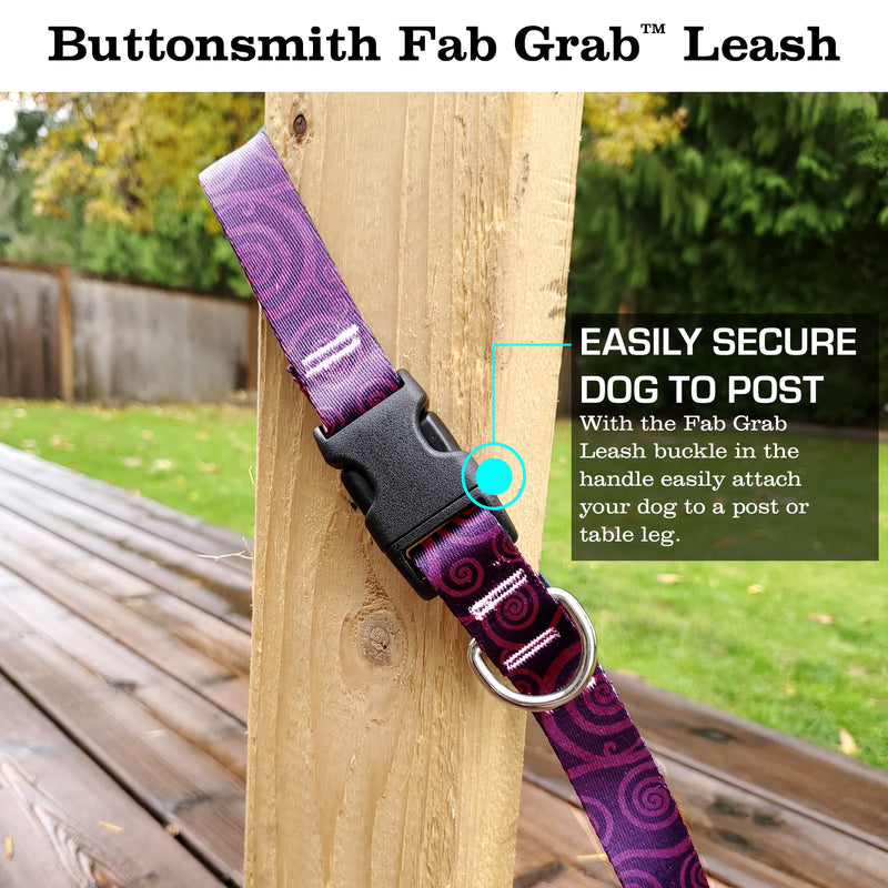 Swirls Ruby Fab Grab Leash - Made in USA