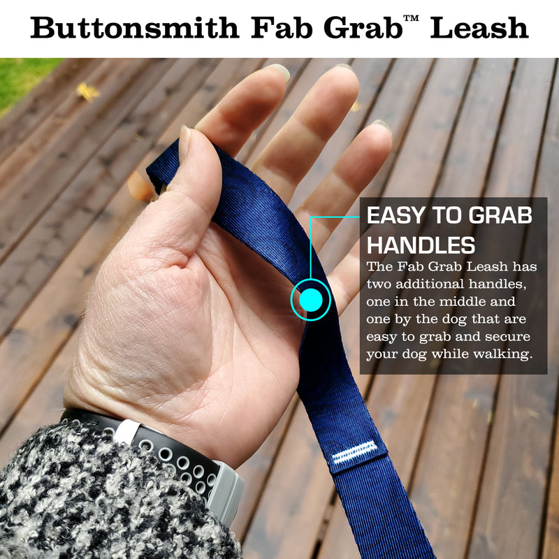 Swirls Sapphire Fab Grab Leash - Made in USA