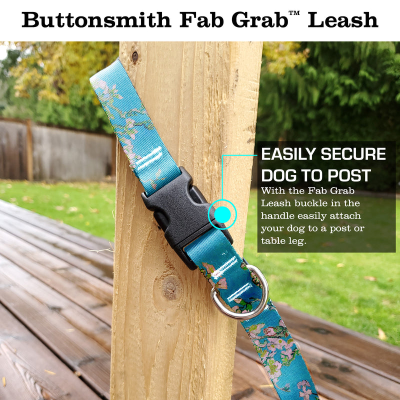 VanGogh Almond Blossoms Fab Grab Leash - Made in USA