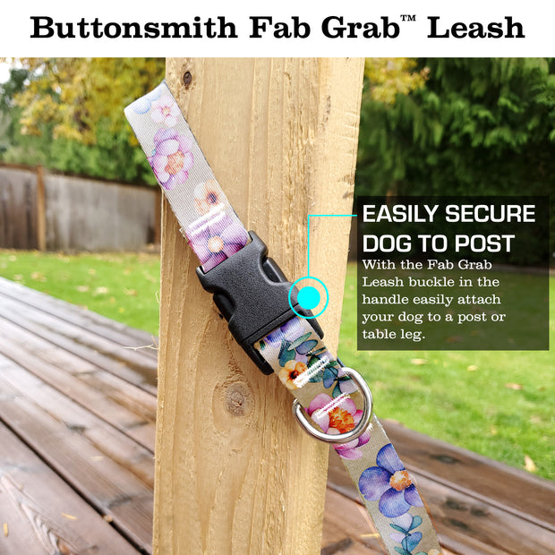 Watercolor Flowers Fab Grab Leash - Made in USA 1