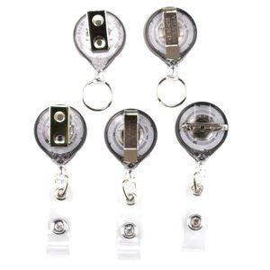 Buttonsmith® Alphonse Mucha Gemstones Tinker Reel® Badge Reel - Made in USA
