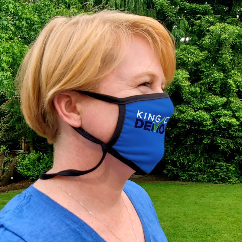 King County Democrats Cloth Face Mask - Buttonsmith Inc.