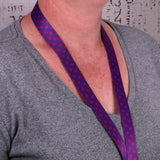 Buttonsmith Magenta Dots Lanyard - Made in USA