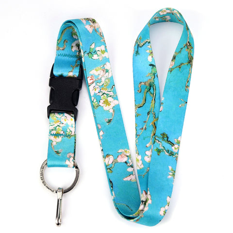 Buttonsmith Van Gogh Almond Blossom Premium Lanyard - Made in USA