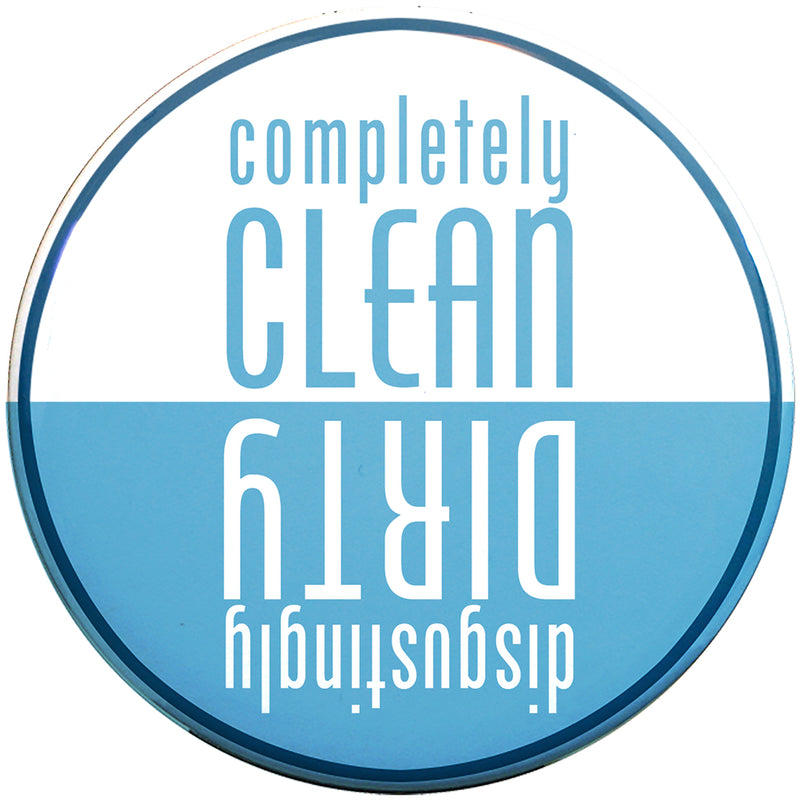 Buttonsmith Blue Clean-Dirty Dishwasher Magnet - Buttonsmith Inc.