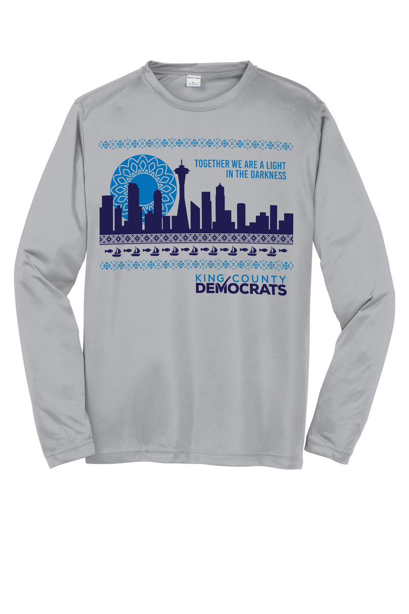 King County Democrats Long Sleeve T-Shirt - Buttonsmith Inc.