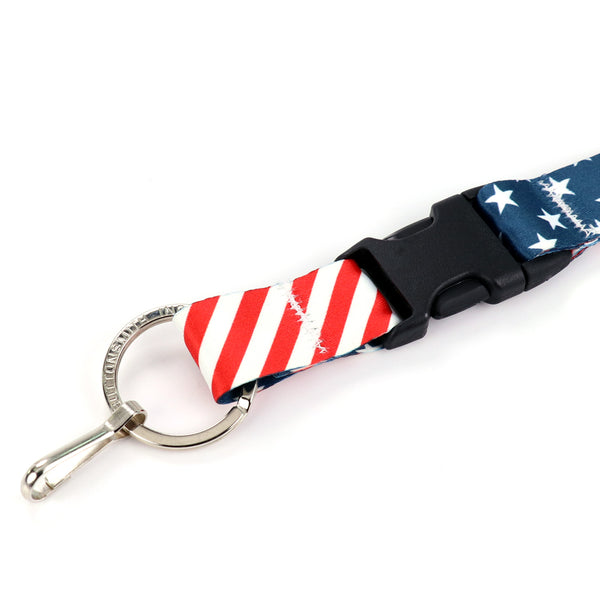 Buttonsmith Stars & Stripes Lanyard - Made in USA
