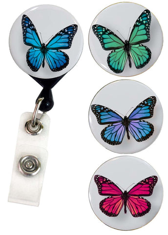 Buttonsmith® Butterflies Tinker Reel® Badge Reel – Made in USA