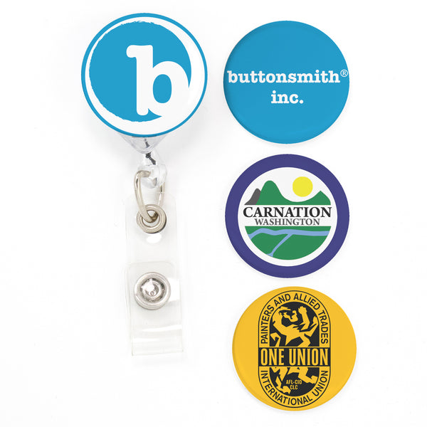 Buttonsmith® CUSTOM Tinker Reel® Badge Reel – Made in USA