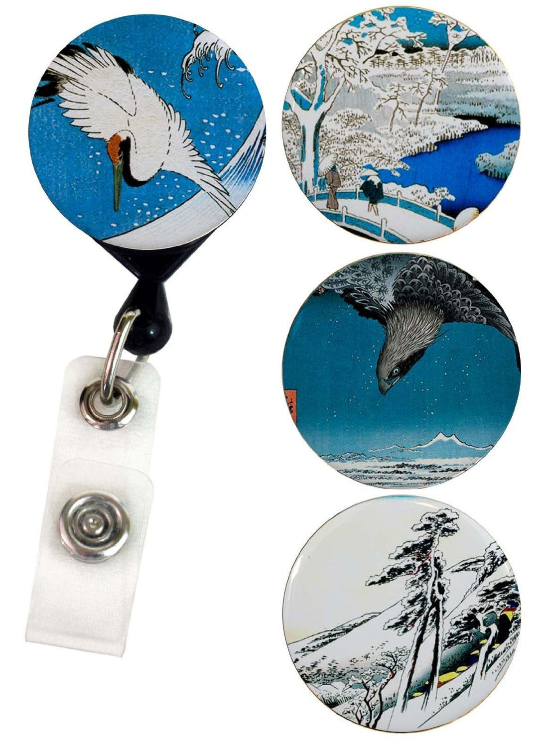 Buttonsmith® Hiroshige Tinker Reel® Badge Reel – Made in USA