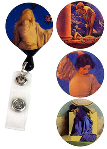 Buttonsmith® Maxfield Parrish Tinker Reel® Badge Reel – Made in USA