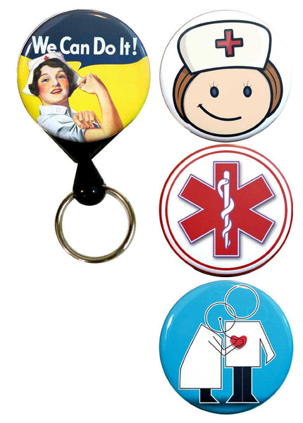 Buttonsmith® Nursing Tinker Reel® Badge Reel – Made in USA