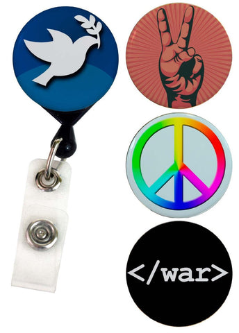Buttonsmith® Peace Tinker Reel® Badge Reel – Made in USA