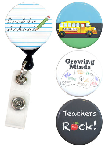 Buttonsmith® Teachers Tinker Reel® Badge Reel – Made in USA