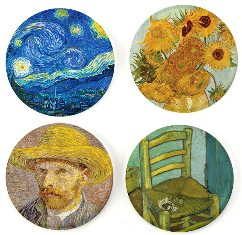 Buttonsmith® Van Gogh Tinker Top® Set – Made in USA – for use with Tinker Reel® Badge Reels - Buttonsmith Inc.