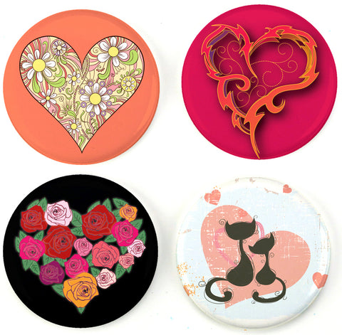 Buttonsmith® Romance Hearts Tinker Top® Set – Made in USA – for use with Tinker Reel® Badge Reels