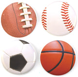 Buttonsmith® Sports Balls Tinker Top® Set – Made in USA – for use with Tinker Reel® Badge Reels