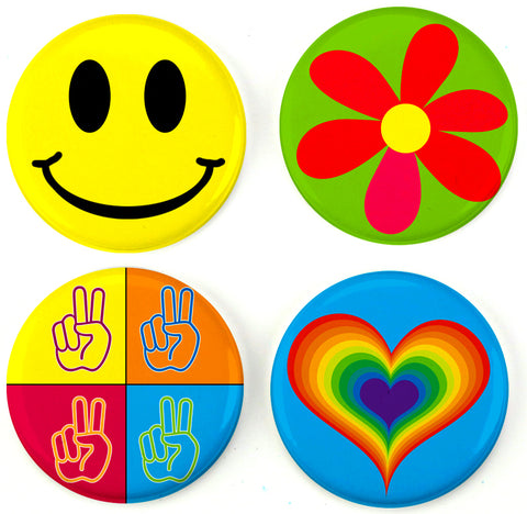 Buttonsmith® Flower Power Tinker Top® Set – Made in USA – for use with Tinker Reel® Badge Reels