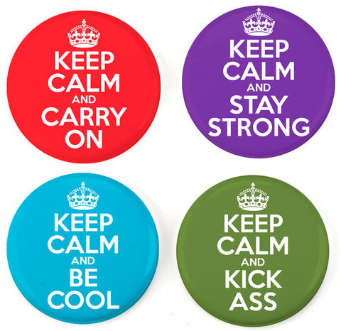 Buttonsmith® Keep Calm Tinker Top® Set – Made in USA – for use with Tinker Reel® Badge Reels