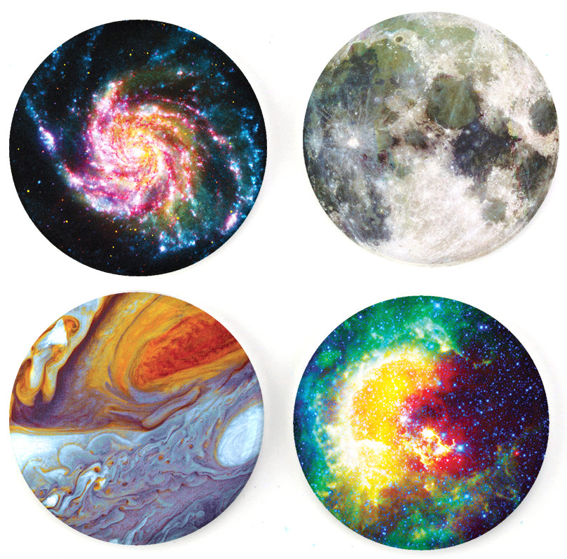 Buttonsmith® Astronomy Tinker Top® Set – Made in USA – for use with Tinker Reel® Badge Reels