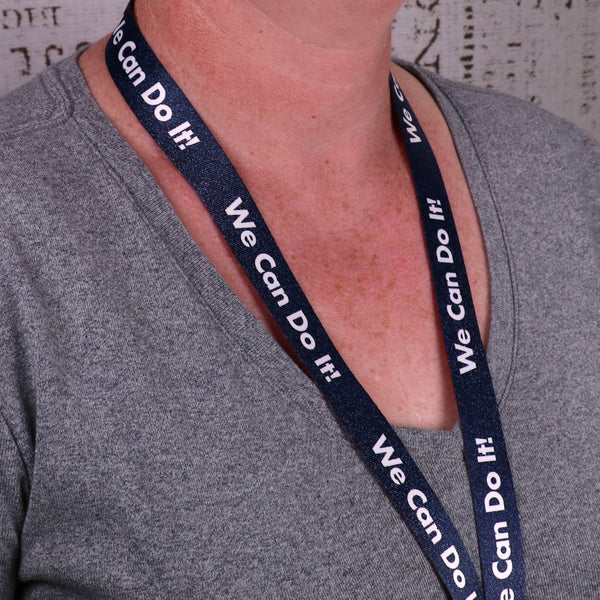 Buttonsmith We Can Do It Lanyard - Made in USA
